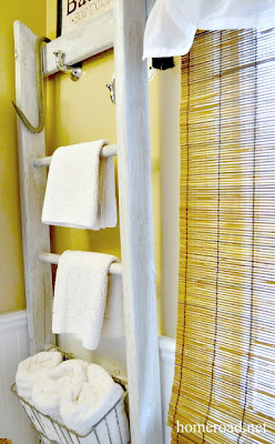 ladder bathroom organizer