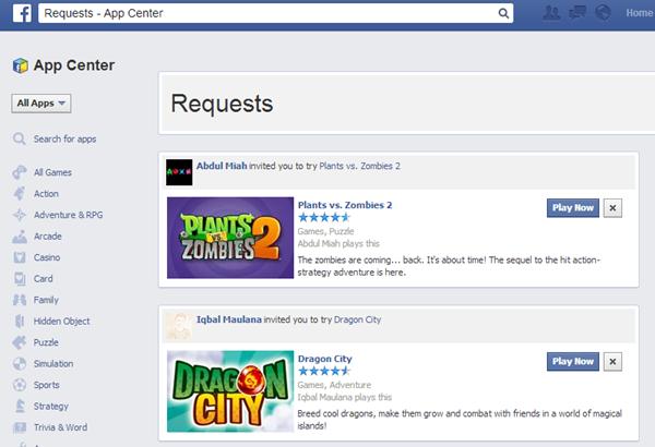 Hướng dẫn chặn lời mời chơi game trên Facebook