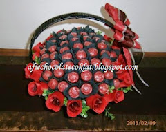 CHOC BASKET BOUQUET ROSE @RM135