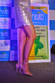 Nargis Fakhri  Pictures in Short Dress at Everyouth Naturals Face Wash Launch  46).JPG