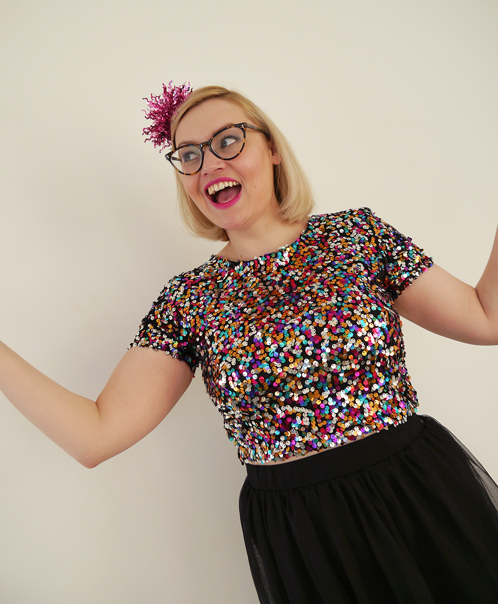 new year party look, christmas sequins, chrsitmas present, scottish style blogger, fun fashion, sartorial style