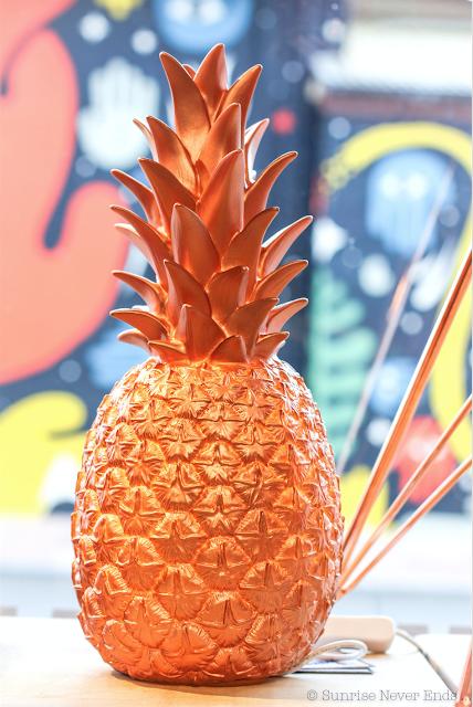 ananas, pineapple,veilleuse,lampe ananas,bensimon,home autour du monde, hossegor