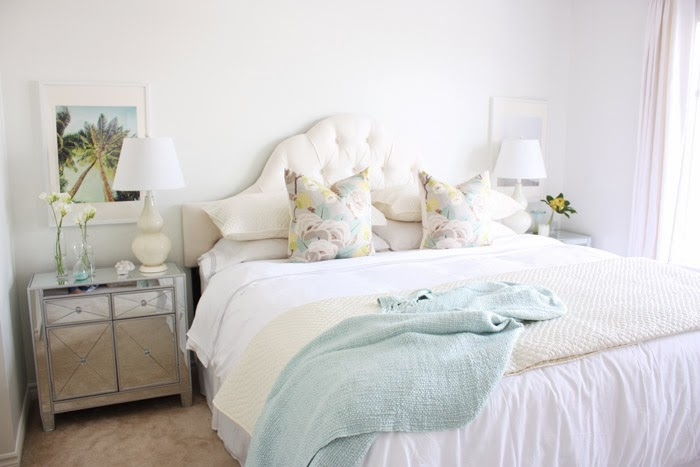 Beautiful Floral Bed pillows Motif Pillows Pillow Shams and Quilt West Elm Ikat painting Lulu and Drew Seafoam throw quilt Chapters Indigo