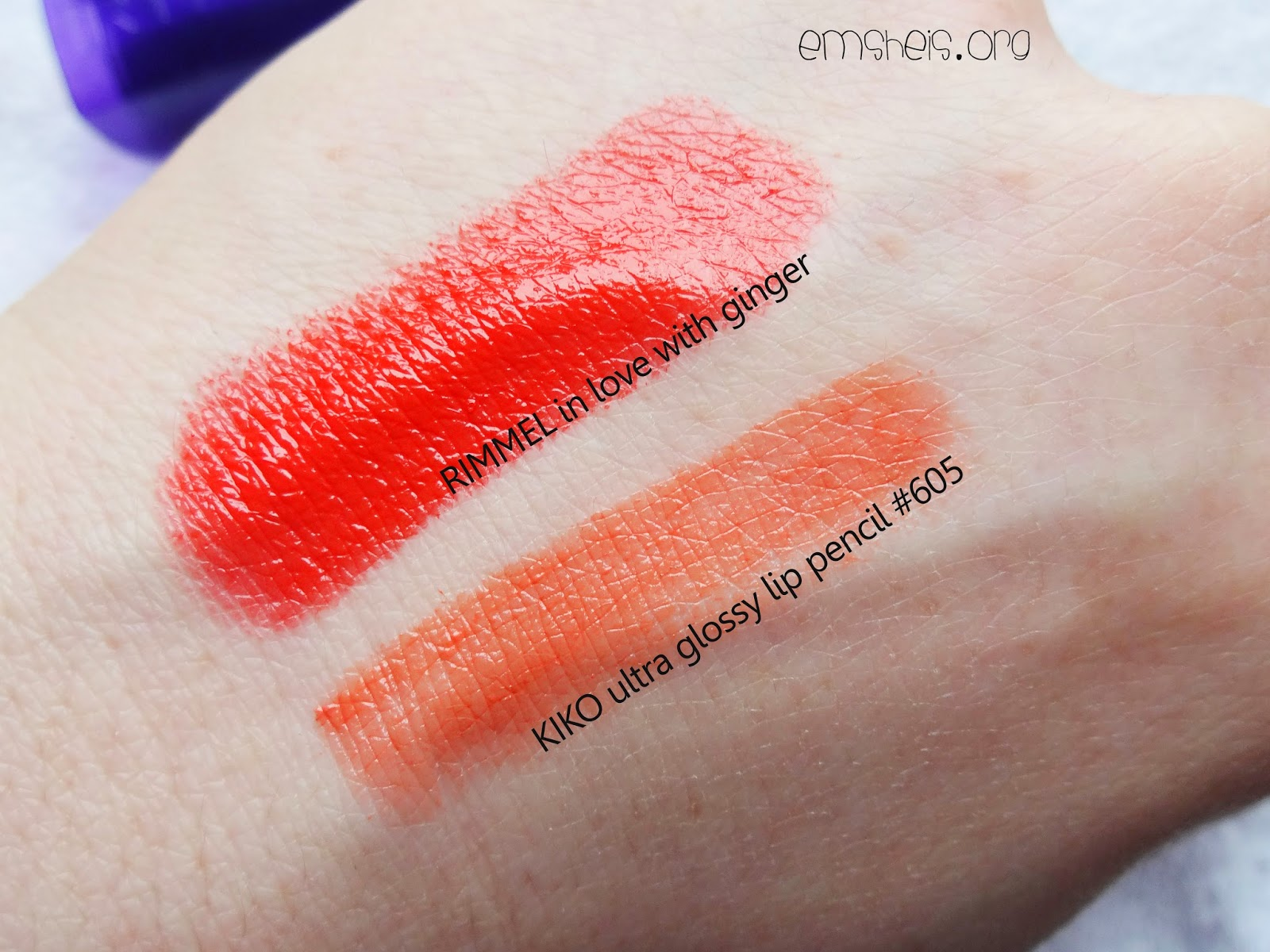 Orange Lip Swatches