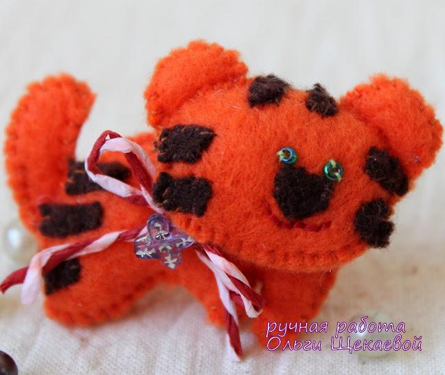 тигр,  китайский гороскоп, ёлочная игрушка