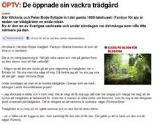 Reportage om trädgården i Östersundsposten juli 2011
