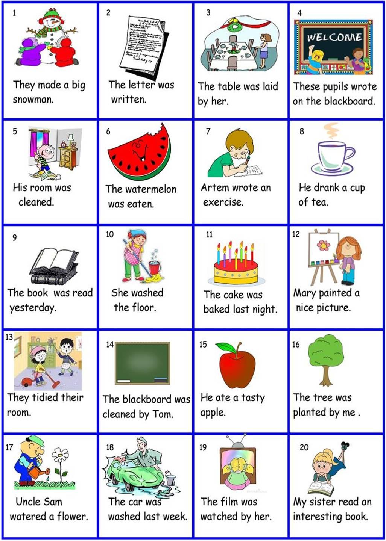 active voice to passive voice exercises pdf