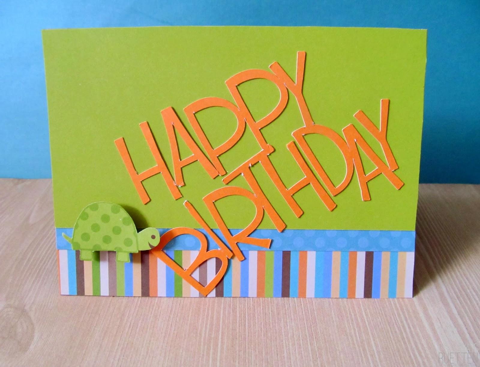 Cute Turtle Birthday Card for a Boy