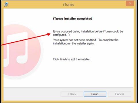 Sửa lỗi không cài đặt đc iTunes