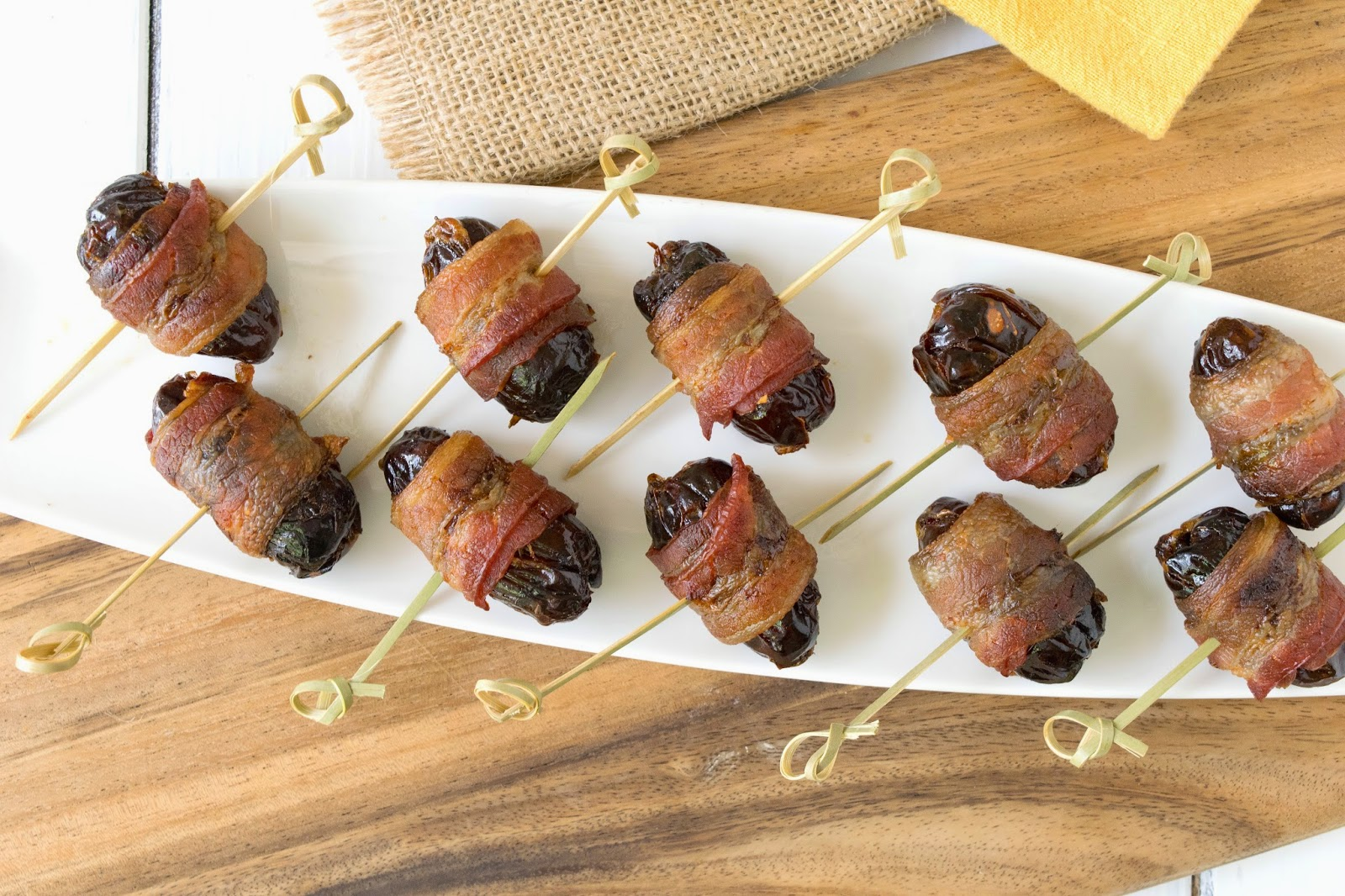 Bacon-Wrapped Dates Recipe : Food Network