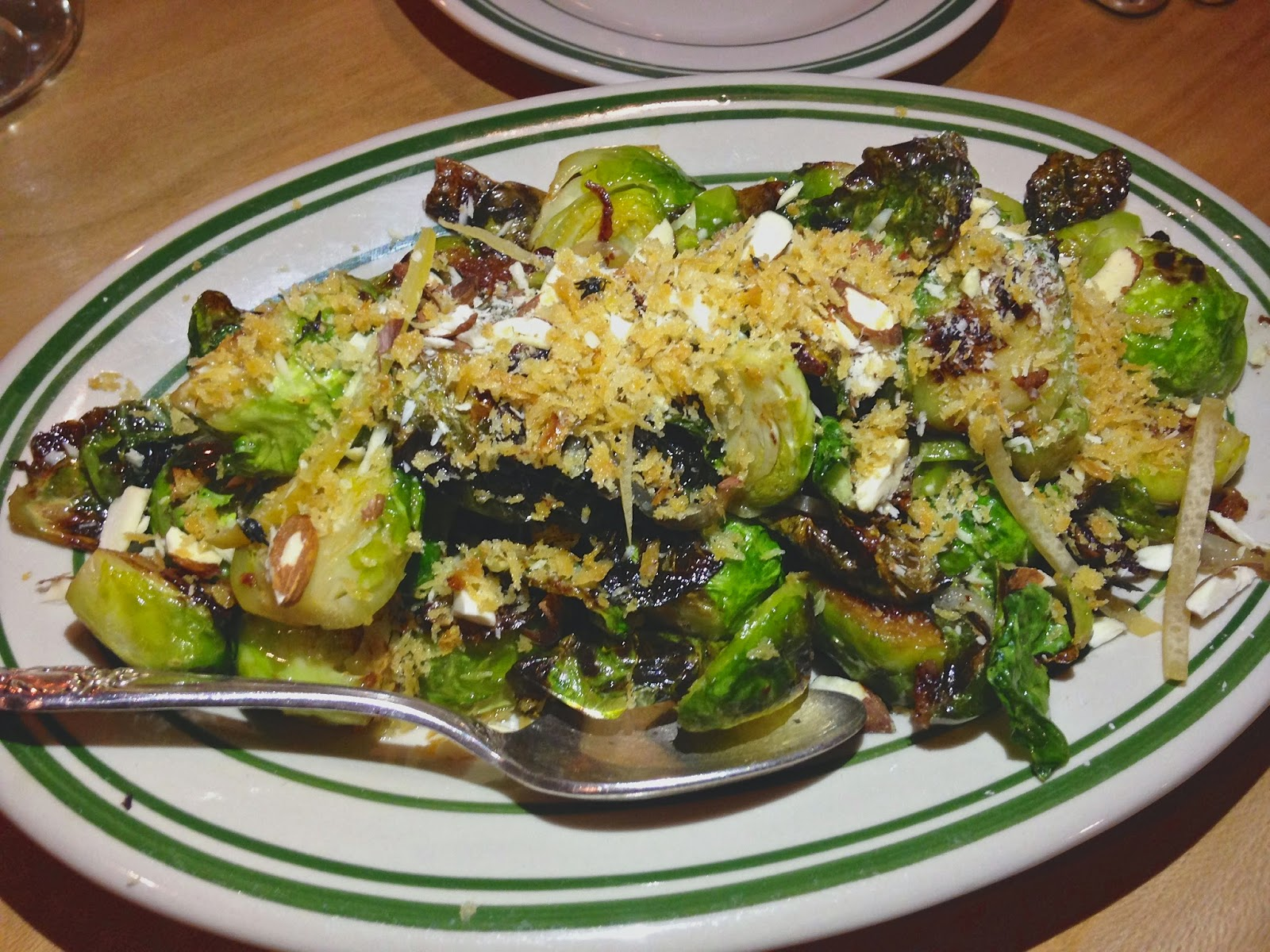 Brussels Sprouts, Garlic, Shallot, Almond, Preserved Lemon