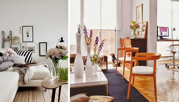 Salas Escandinavas na sala de estar