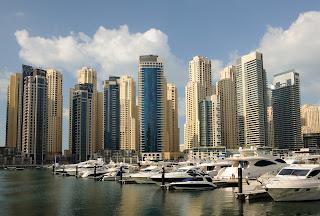 Rascacielos en la ciudad de Dubai