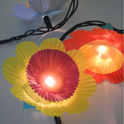 Cupcake Flower Lights - Tutorial