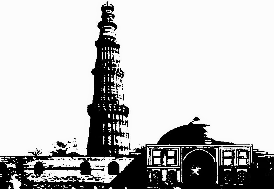 Line Drawing Of Qutub Minar : Masjid minar clipart check out