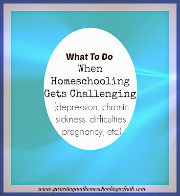 homeschooling sickness depression pregnancy