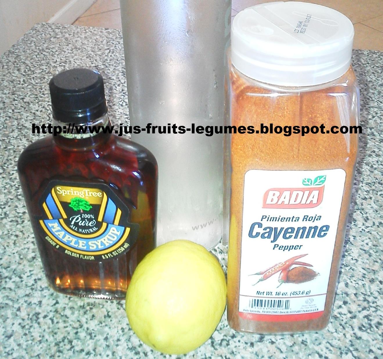 Les effets secondaires du Master Cleanse (eau, citron