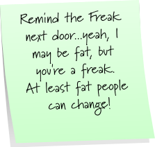 Freak Next Door Sticky Note Saturday