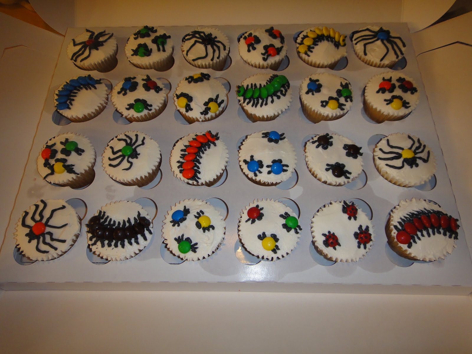 Kims Cakes and Crumbs: Creepy Crawly Bugs!