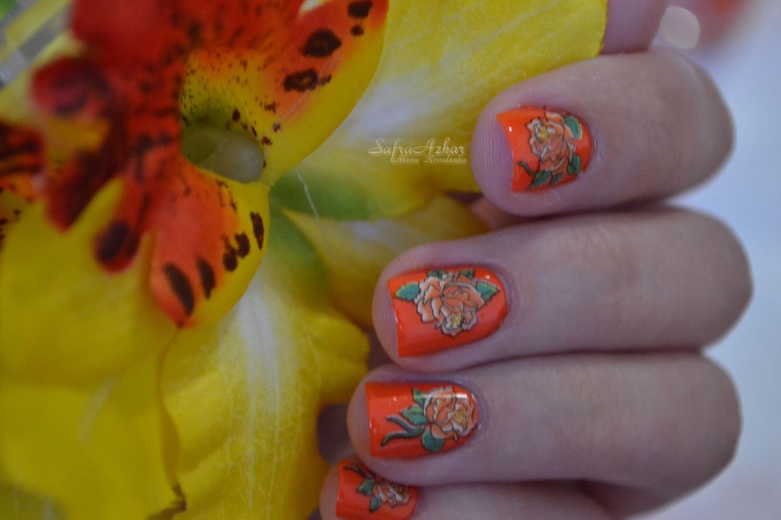 Оранжевый маникюр 88 фото идей и модный дизайн