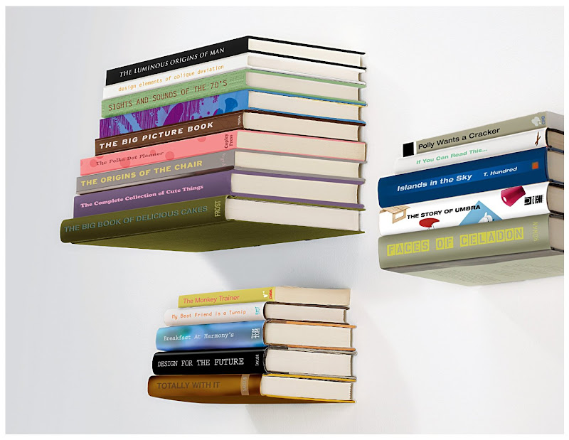 Pepper & Chocolate: Floating book shelf.