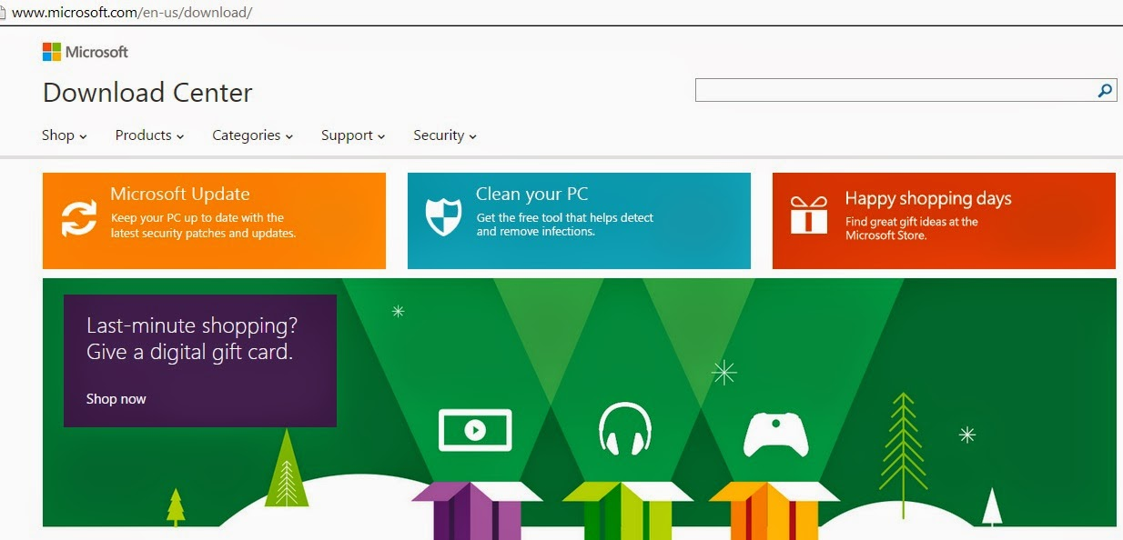 Microsoft downloads