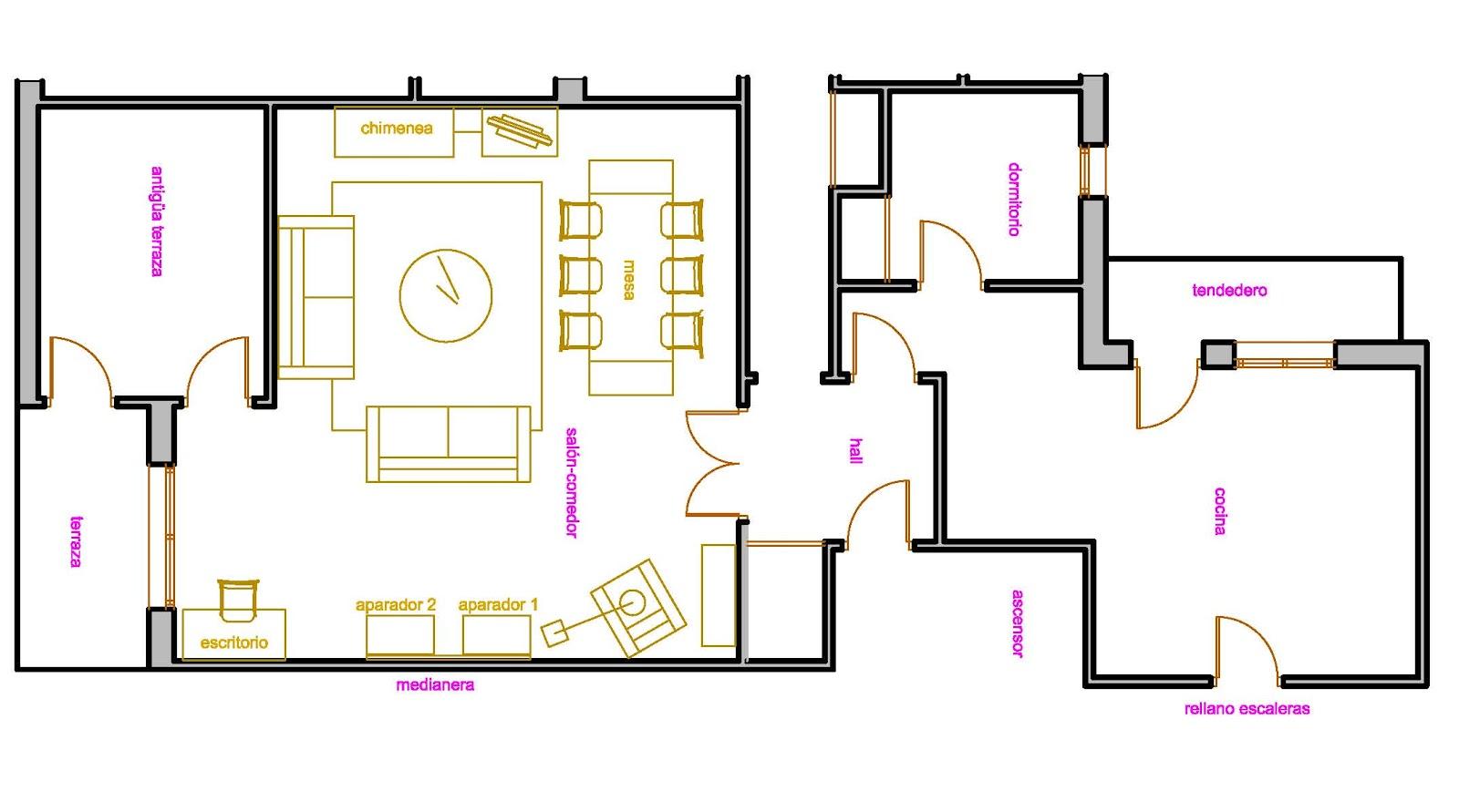 Planos low cost febrero 2012 for Dimensiones de un escritorio