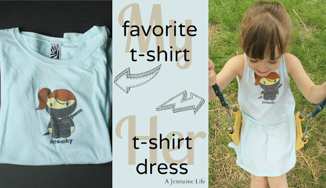 T-shirt Refashion into toddler dress