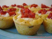 Crostatine matte di baccalà mantecato con peperone rosso