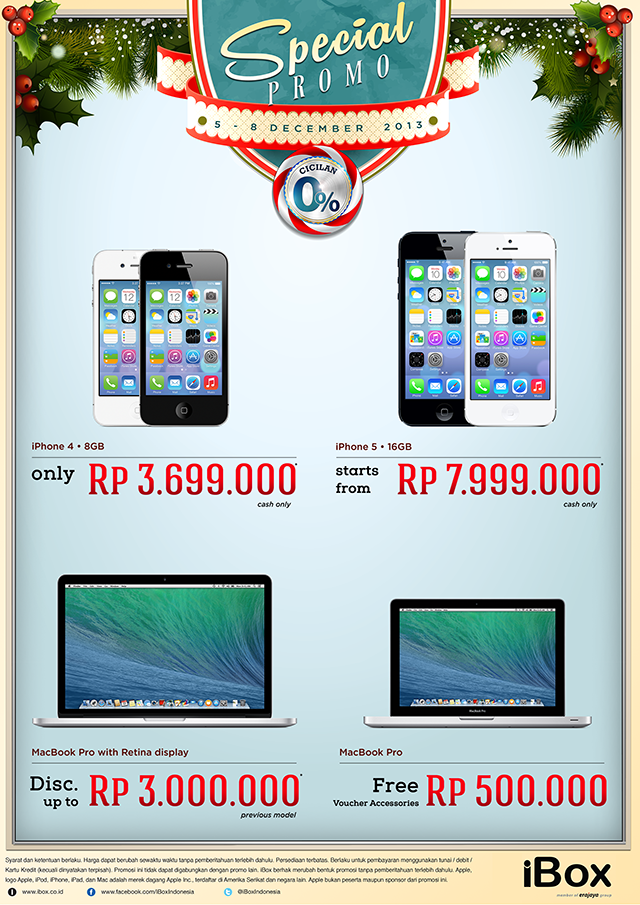 iBox Spesial Promo iPhone 4 dan iPhone 5 (5 - 8 Desember 2013)