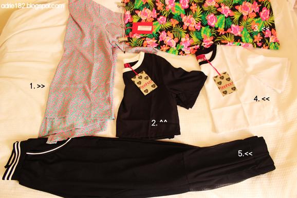 boohoo, tracksuit, kimono, monochrome, neon