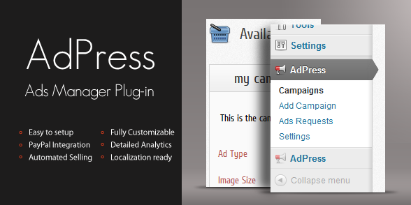 adpress wordpress plugin