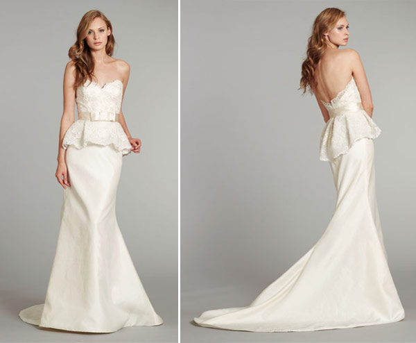 Vestidos  para noiva peplum