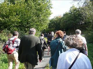 Albert Poulain mène la promenade du patrimoine  à Saint-Just