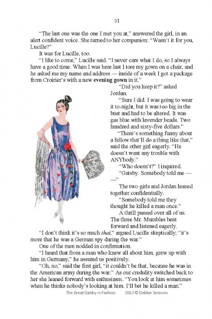 the great gatsby in fashion sample page