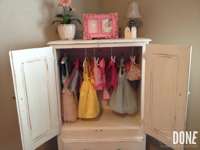 {The UNDONE Blog} TV Stand Turned Armoire