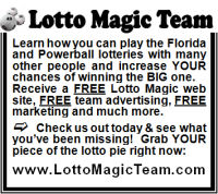 Florida Lotto Magic 2 inch display advertisement