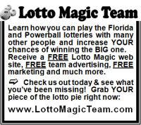 Florida Lotto Magic 2 inch display advertisement
