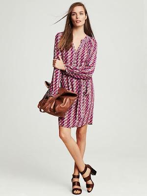 zikzak desenli elbise, pembe elbise, 2014 elbise modelleri,