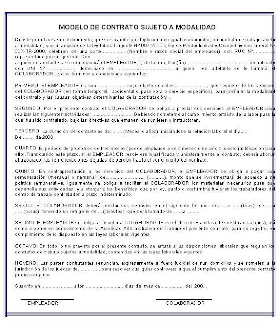 Legislacion laboral Contrato trabajo