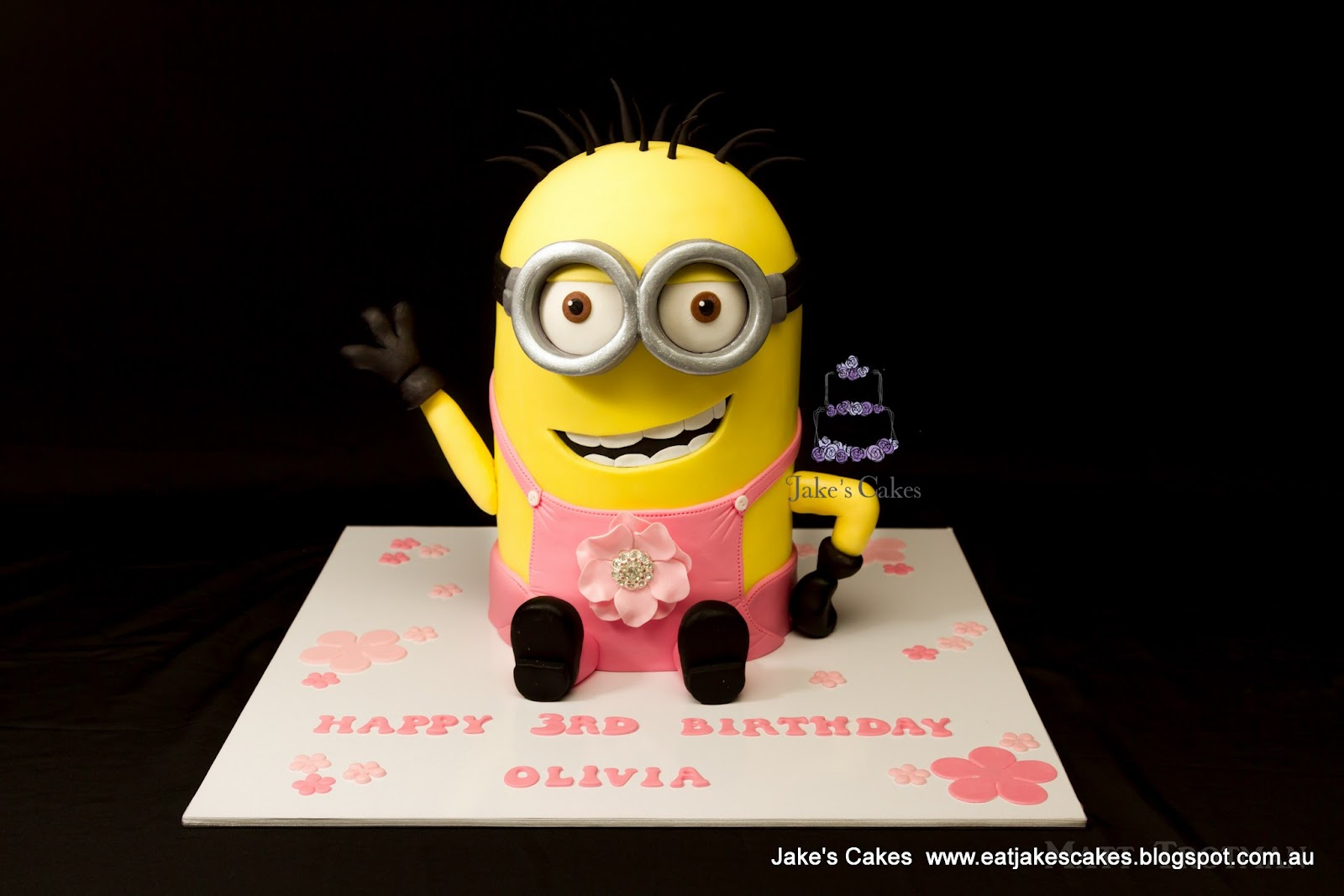 Jakes Cakes Kevin the Pink Minion Cake