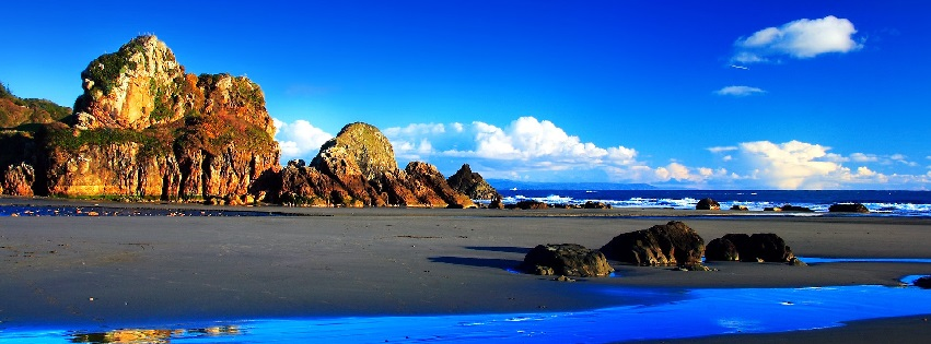 Nature Rocks Sea Blue Sky Facebook Cover
