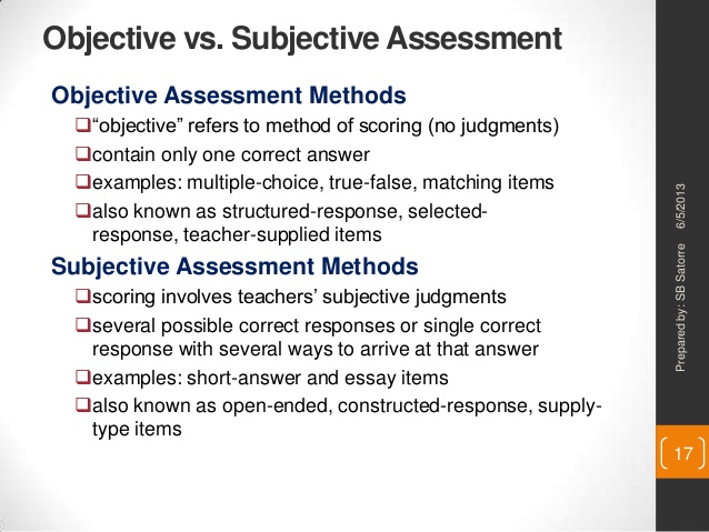 objective and subjective questions pdf