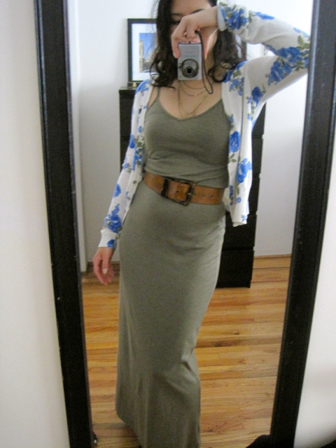 american apparel maxi dress outfit green olive