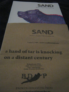 Cover and sleeve for Issue 5 of Sand Journal in Berlin