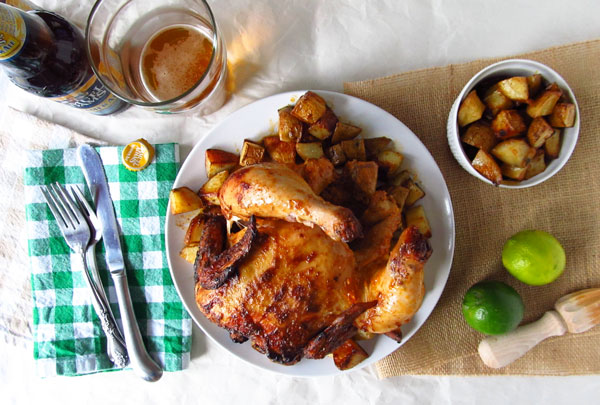 Chili and Lime Beer Can Chicken