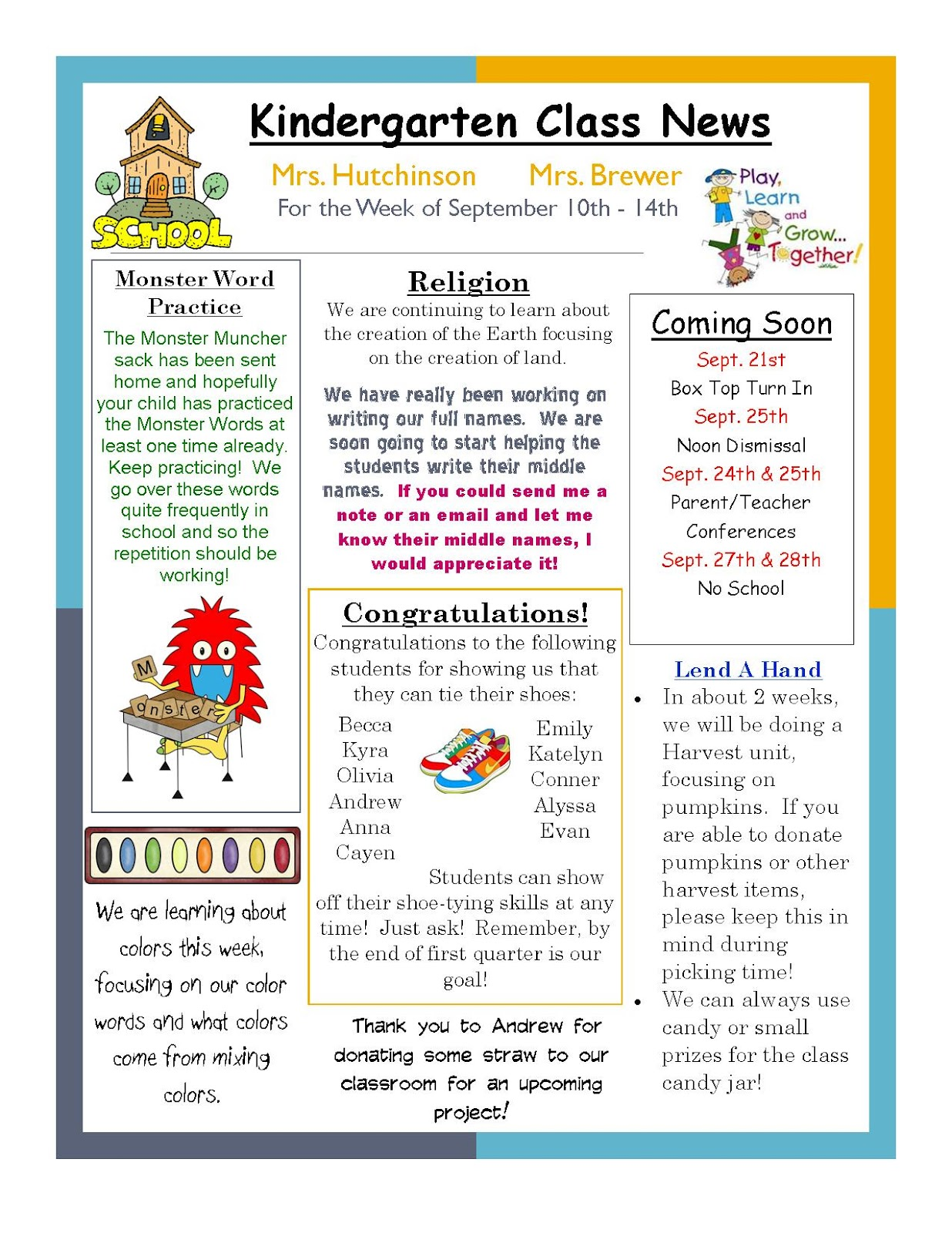 once upon a creative classroom weekly newsletters. Black Bedroom Furniture Sets. Home Design Ideas