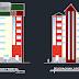 مشروع عمارة سكنية ستة طوابق اوتوكاد dwg