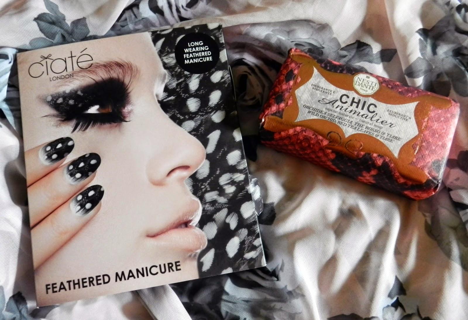 Ciaté Feathered Manicure kit & Nesti Dante Chic Animalier Soap
