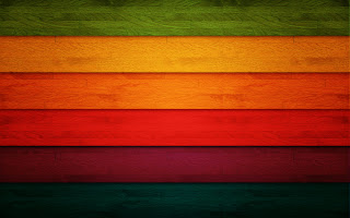Colorful Rainbow Wood Texture Simple Design HD Wallpaper